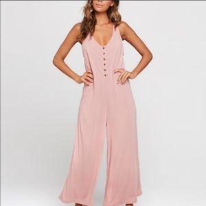 L*Space Gloria Pink Sleeveless Jumpsuit
